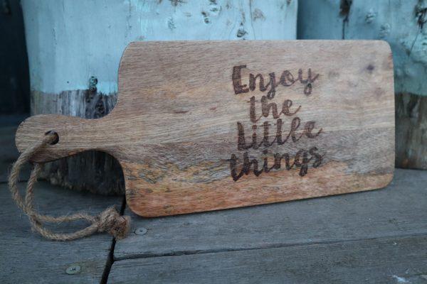 Hout graveren ta[as plank