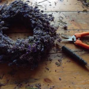 Lavendel krans DIY