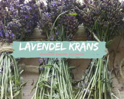 Lavendel krans diy bind techniek