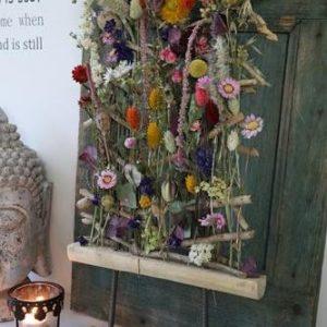 Perenhout frame droogbloemen