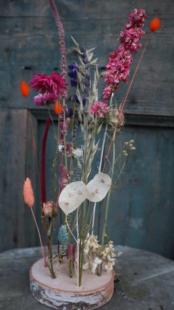doe-het-zelf pakket droogbloemen boomschijf
