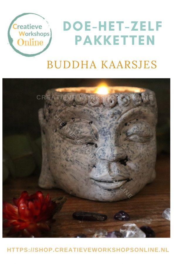 Buddha kaarsjes sticker